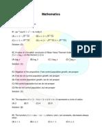 VITEEE Maths Question Paper 2017