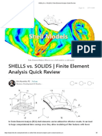 SHELLS vs. SOLIDS _ Finite Element Analysis Quick Review