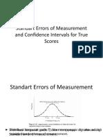 Standart Errors of Measurement