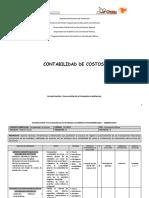 Planificación y Evaluación de Actividades Académicas-contabilidad de Costos