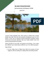 Pond- Basic need for civilization