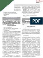 TRANSPORTES Y COMUNICACIONES RESOLUCION MINISTERIAL N° 280-2019 MTC/01.03