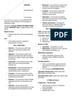 Cell Structure and Function Reviewer