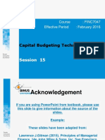 Capital Budgeting Techinques
