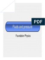 Lecture 2.9 Fluids and Pressure