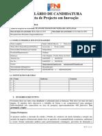 Formulário de Candidatura_Treinamento Projectos de Inovação