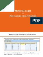 Configuración Material Ledger