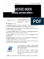 PracticeMock First Week April Current Affairs