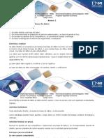 Anexo 1 Paso 3 Diseño Base de Datos