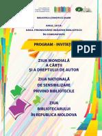 ZIUA NAȚIONALĂ DE SENSIBILIZARE PRIVIND BIBLIOTECILE, ZIUA BIBLIOTECARULUI  ÎN REPUBLICA MOLDOVA