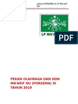 Panduan Porsema Xi Tahun 2019 Lpmnu Kabupaten Kendal1 2