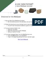 rock cycle webquest lab sheet