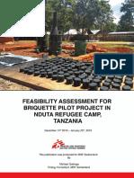 Briquette Assessment for Nduta Refugee Camp