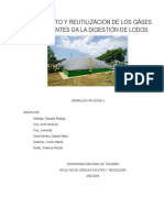 Tratamiento y Reutilización de Los Gases Provenientes Da La Digestión de Lodos
