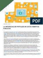 PERU - LA NECESIDAD DE PORTALES DE DATOS ABIERTOS PÚBLICOS – Consultora en Innovacion y Tecnologia para Organismos Gubernamentales