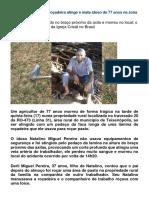 Pedaço de Lâmina de Roçadeira Atinge e Mata Idoso de 77 Anos Na Zona Rural de Teixeirópolis