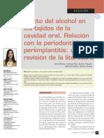Efecto del alcohol en los tejidos de la cavidad oral