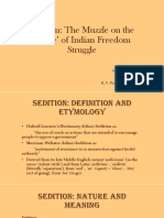 Muzzle of Sedition in Freedom Struggle