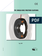 Electromagnetic Single-disc Friction Clutches (Type Ebf)