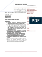 Muhammad Minhaj CV Document Control Manager