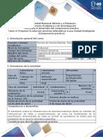 Guía Para El Desarrollo Del Componente Práctico - Unidad 3 Tarea 3 Proponer La Solución Servicios Telemáticos a Una Ciudad Inteligente (Componente Práctico)