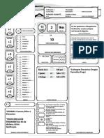 DD 5E - Ficha de Personagem Atlas Feiticeiro