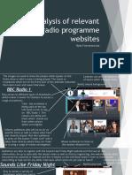 analysis of relevant radio programme websites