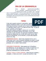 HISTORIA DE LA GRANADILLA