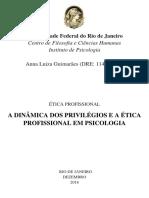 A dinâmica dos privilégios e a ética profissional em psicologia