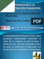 Introduccion a La Administración Financiera