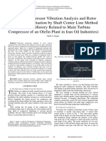 Turbine Compressor Vibration Analysis and Rotor Movement Evaluation by Shaft Center Line Method the Case History Related to Main Turbine Compressor of an Olefin Plant in Iran Oil Industries