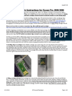 Refillable Cartridge Instructions for Epson Pro 3800/3880