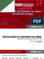 Resolución de Contrato y Recepción de Obra