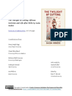 Book Forum - The Twilight of Cutting