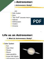 Life as an astronomer