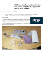 Refillable Cartridge Instructions for Epson P600 ConeColor CIS Instructions