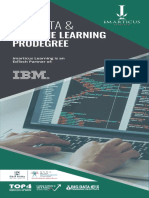 Big Data Machine Learning Prodegree Ebrochure