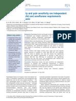 Sevorane y Propofil Anestesia General Induccion