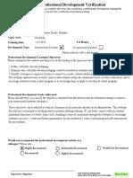 professsional development training verification final culturally competent instructor