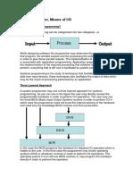 Input Output Methods
