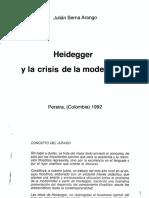Julián Serna Arango - Heidegger y La Crisis de La Modernidad