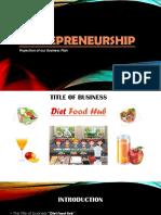 Entraprenership (Diet food Hub)