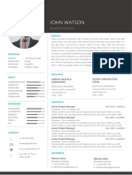 Black and White Cv in MS WORD Design Credit Freepik.com