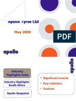 Apollo Tyres Ltd IR Presentation May 2009