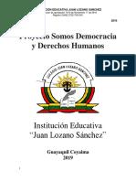Proyecto Somos Democracia y Derechos Humanos 2019