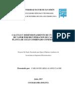 Calculo y dimensionamiento de un generador de vapor.pdf