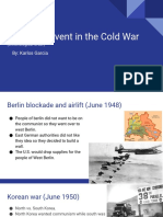 historical event in the cold war  chronological order  karlos garcia