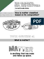 Elements Compounds Mixtures Matter Cornell Doodle Notes Powerpoint Presentation