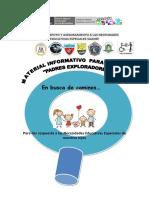 Material Informativo de Apoyo Para Familias