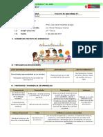 4°- I Unidad - Proyecto de Aprendizaje - Día mundial de la educación